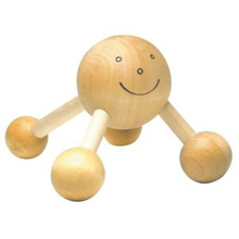 happy wooden massager