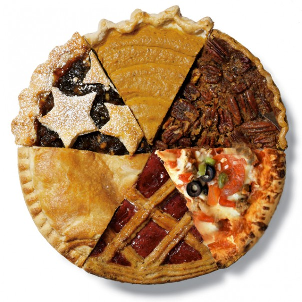 multi type pie pieces