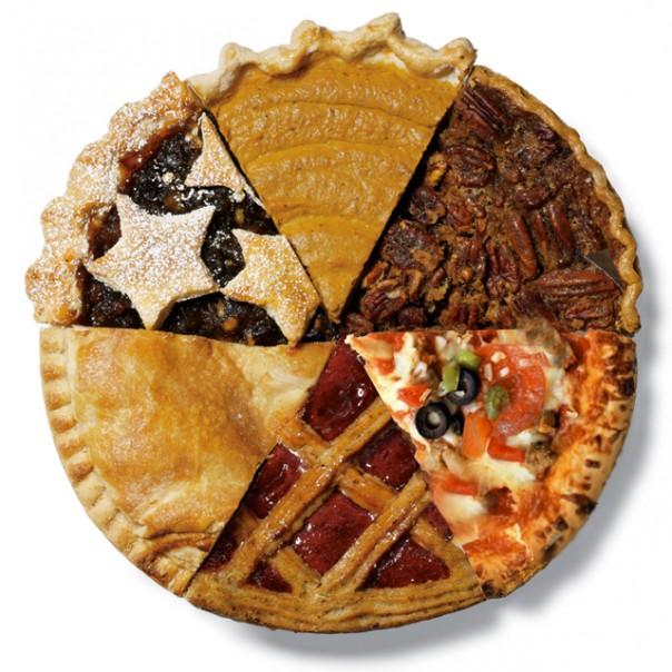 multi type pie pieces
